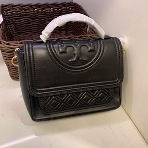 Tory Burch Fleming leather satchel